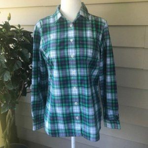 LL Bean Lightweight Gordon Tartan Button Down, XSP